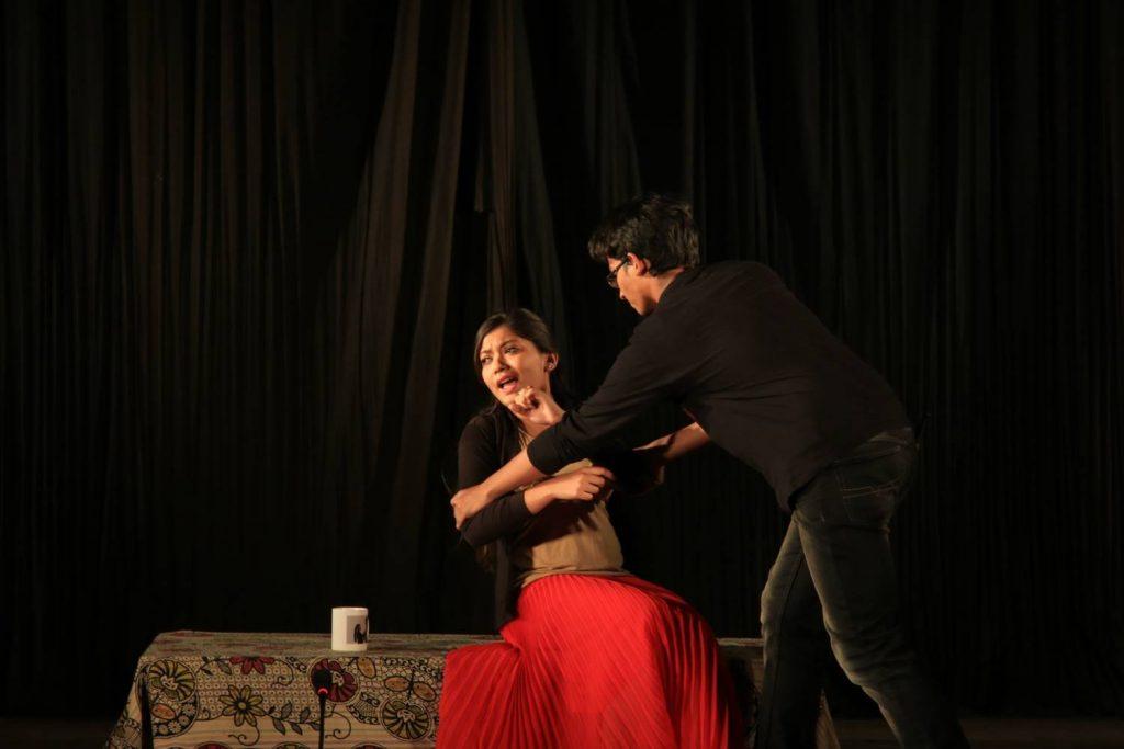 Hamlet chides Gertrude (Queen's closet scene).
