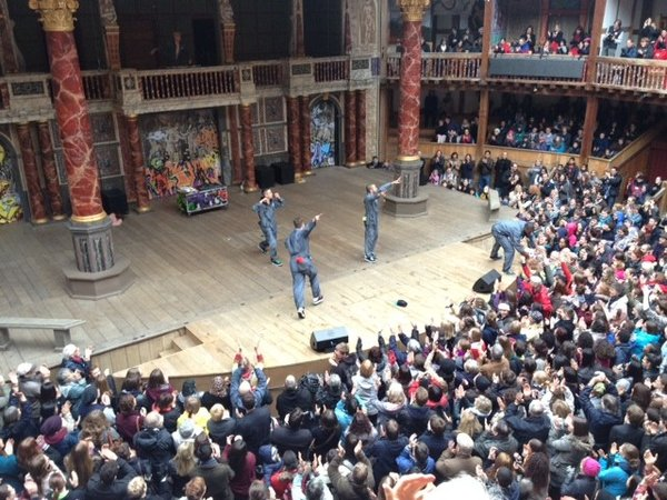 shakespearean stage in addition to visitors composition definition