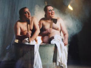 Chiron and Demetrius inhabited the same grotesque vaudeville, part revenge tragedy, part Grand-Guignol freak show