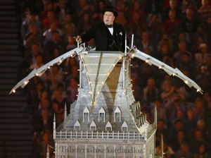 Timothy Spall as Winston Churchill at the 2012 London Olympics closing ceremony