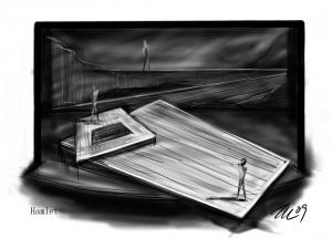 Stage sketch drawn by Jong-hyun Pyo.