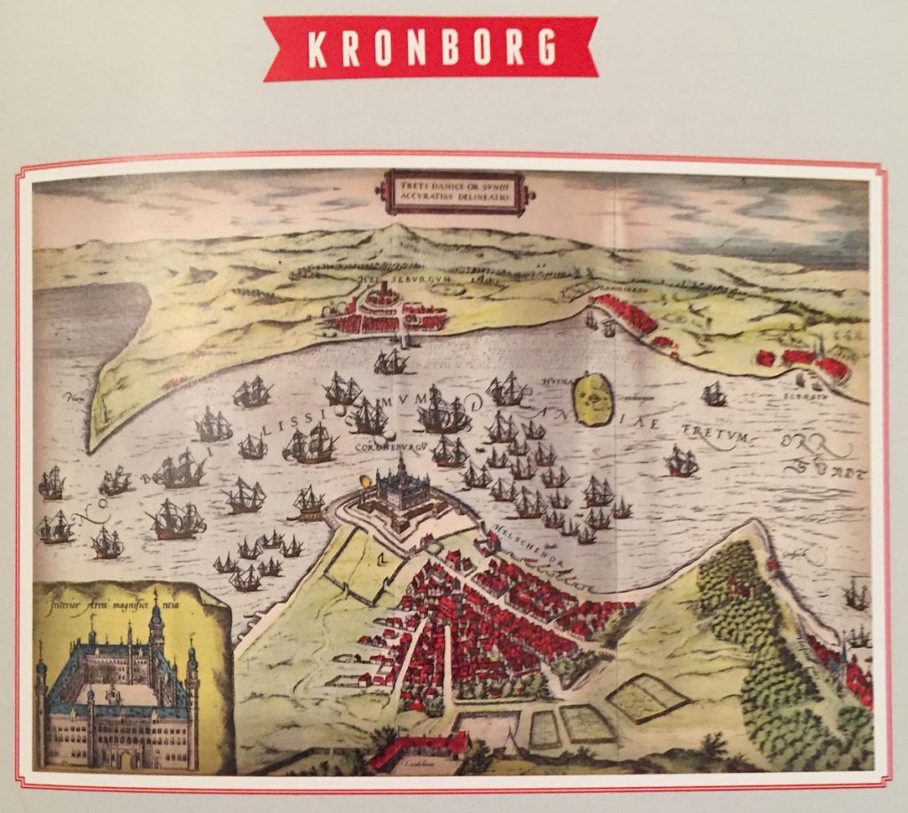 Early modern map of Kronborg